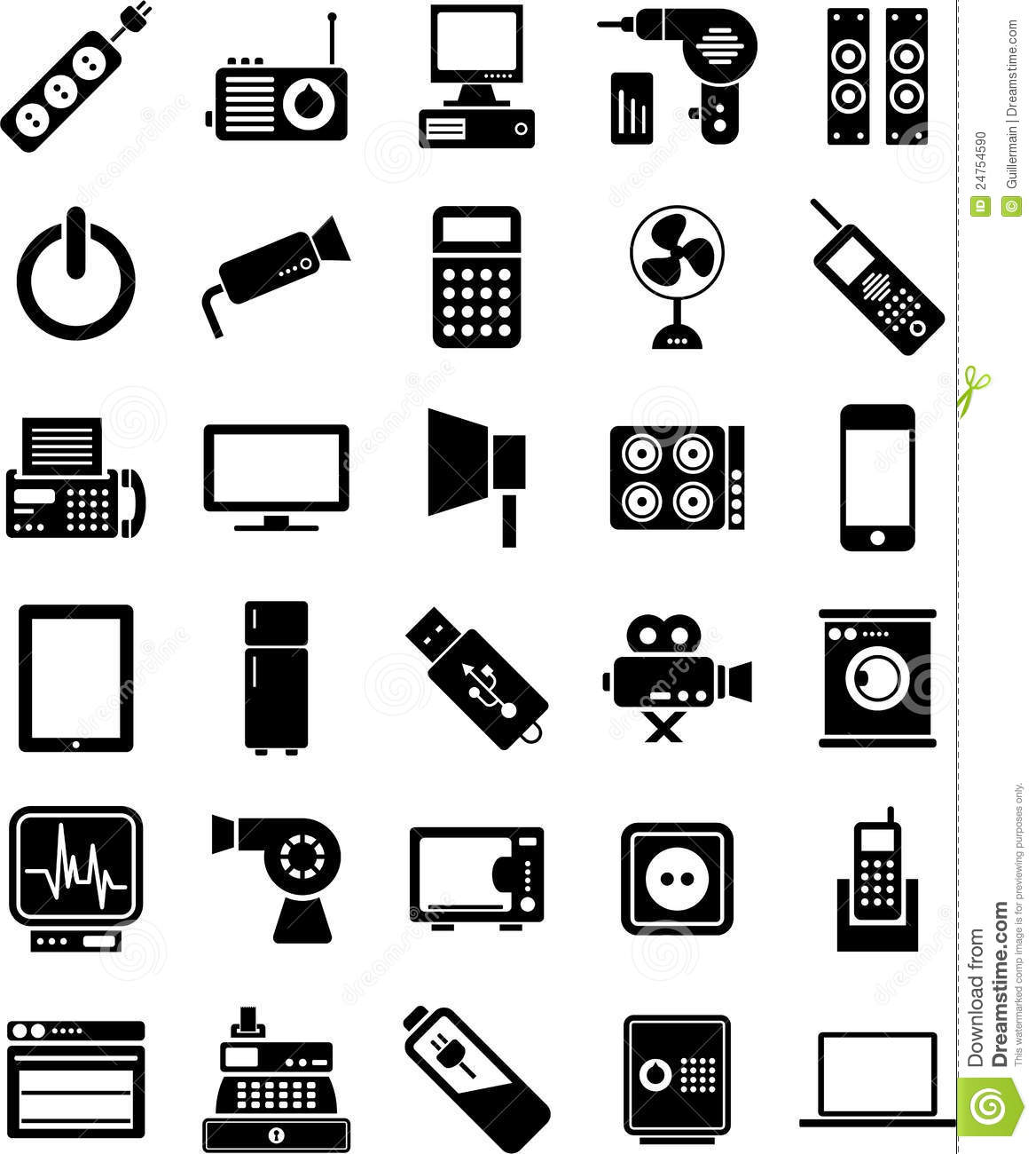 Electronic Devices Icons Stock Vector Illustration Of