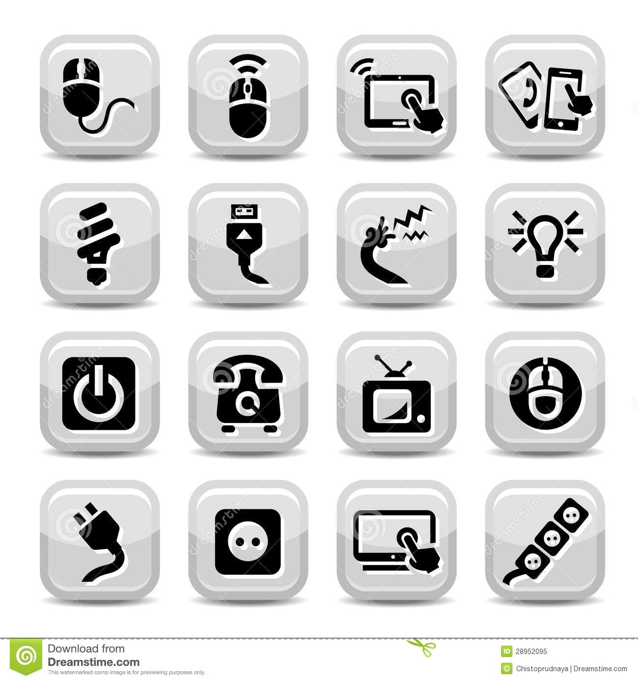 Electronic Devices Icons Royalty Free Stock Photo - Image: 28952095
