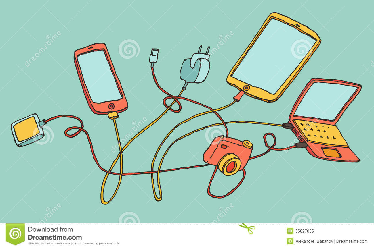 Image result for cartoon pics of electronic gadgets