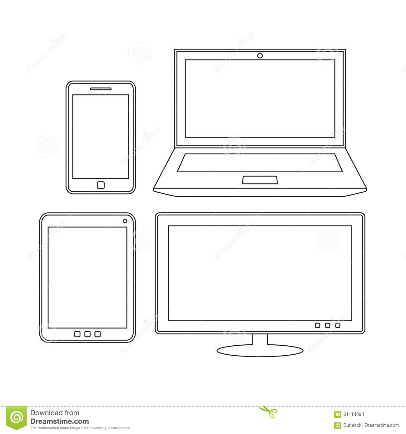 Drawing Lines With Tablet : Electronic devices laptop tablet smartphone stock