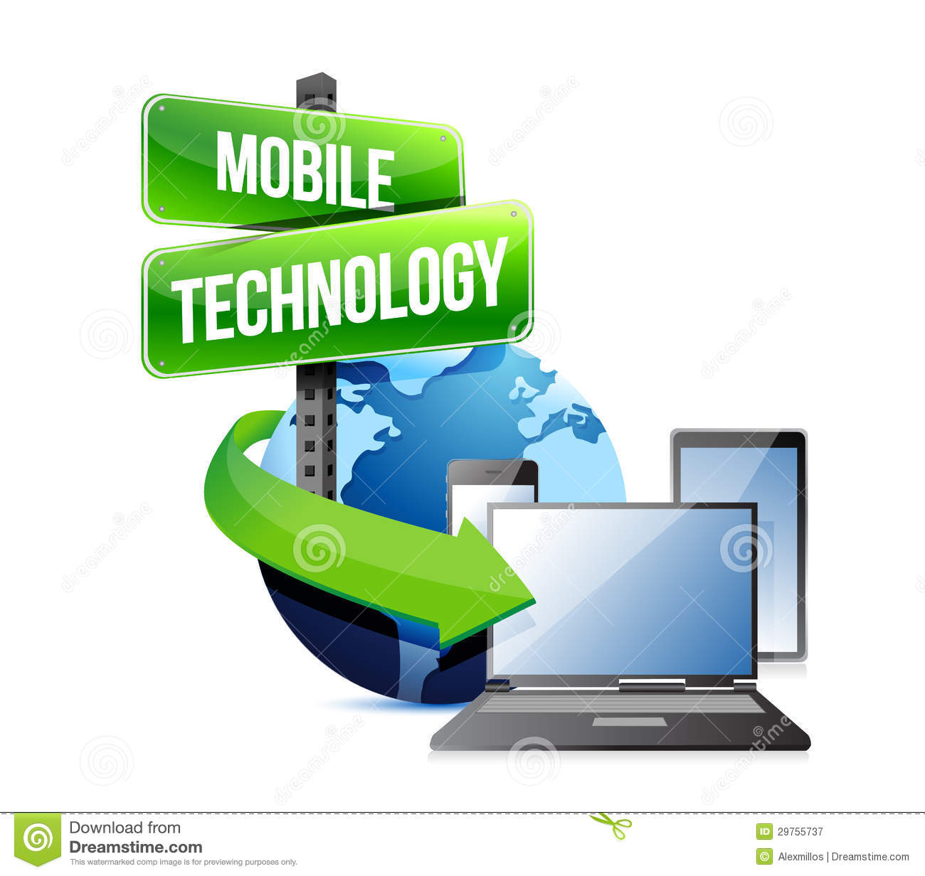 Mobile Technology: Electronic Devices Mobile Technology Royalty Free Stock
