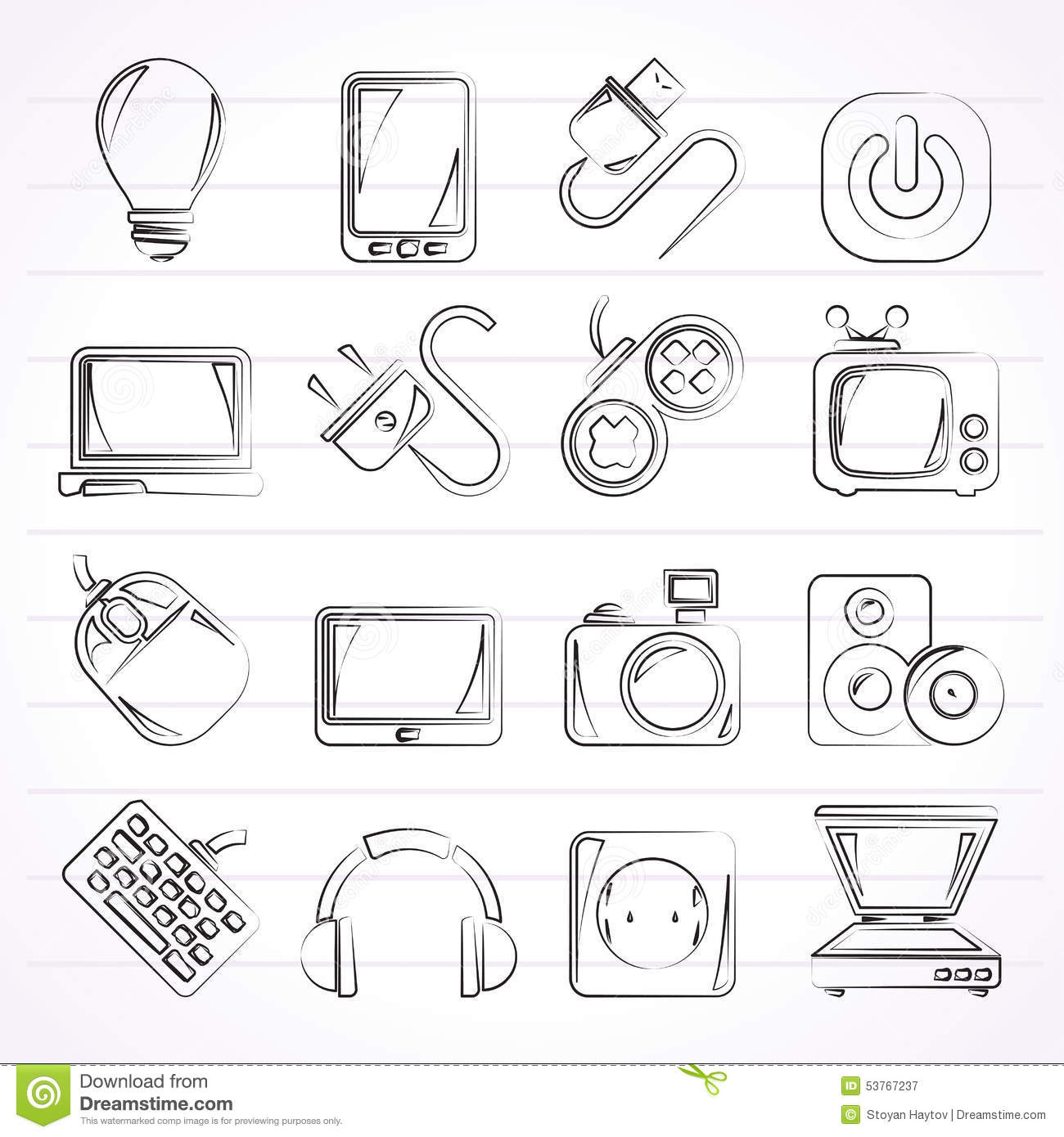electronic devices icons vector illustration