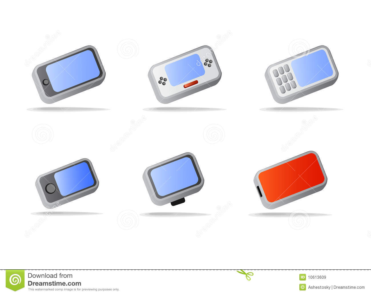 Electronic Timing Devices : Electronic devices and phone icons cartoon vector