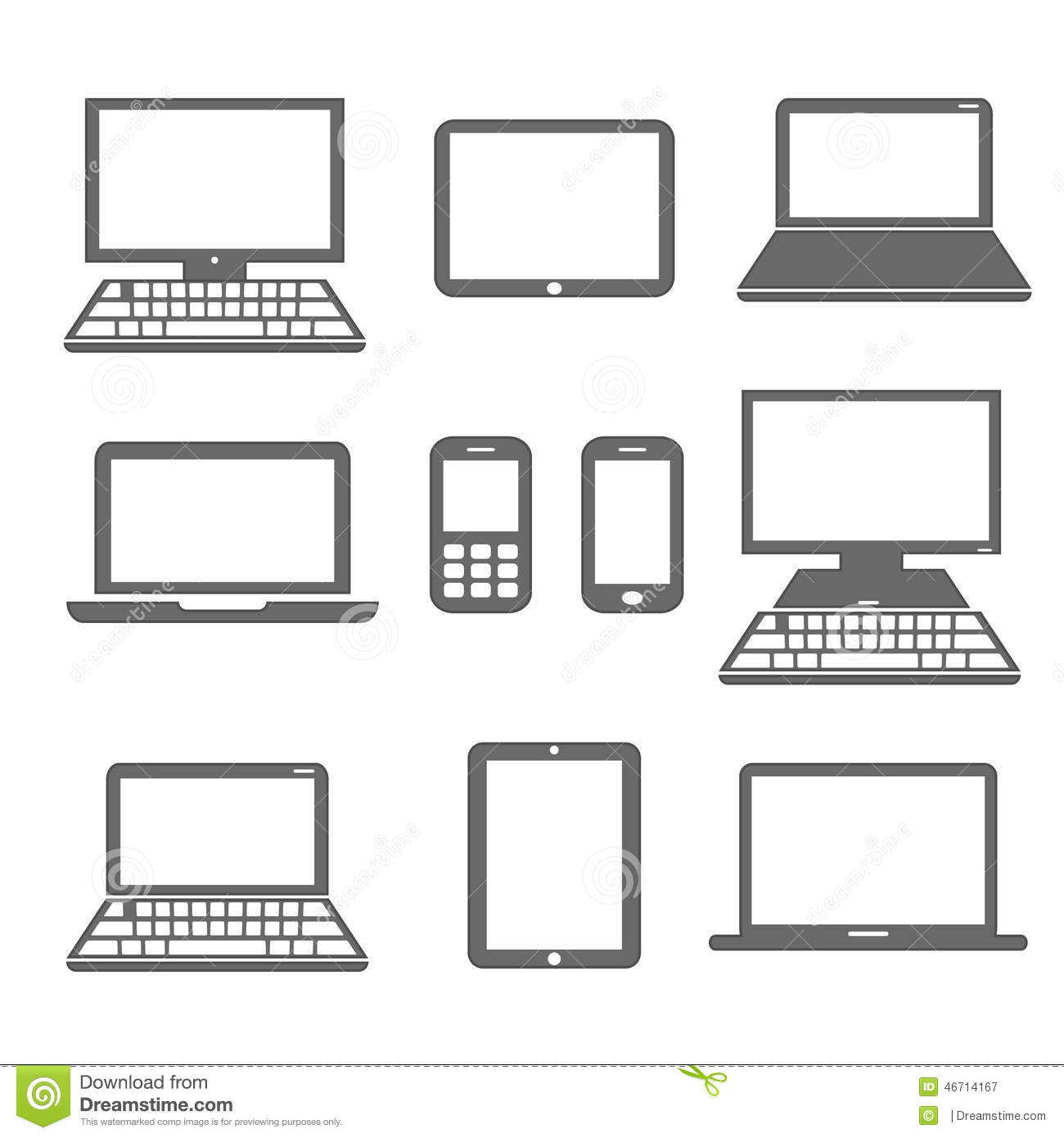 Electronic Timing Devices : Electronic devices stock vector image