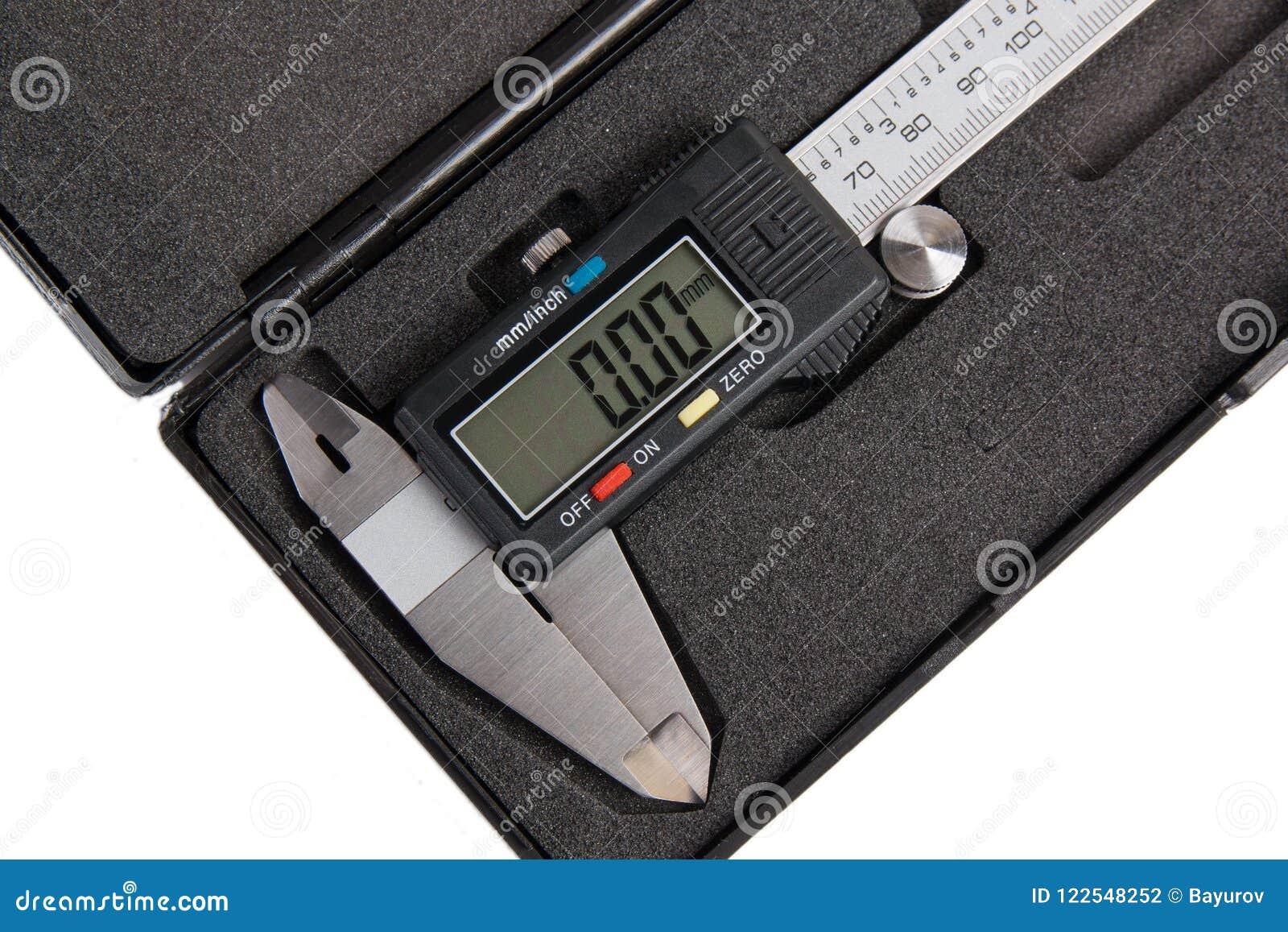 Electronic digital caliper in box