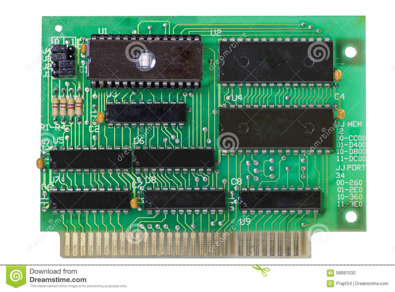 Electronic Digital Circuit Stock Photo Image Of Macro 58681532 Shot Integrated Many Uses In The Electronics