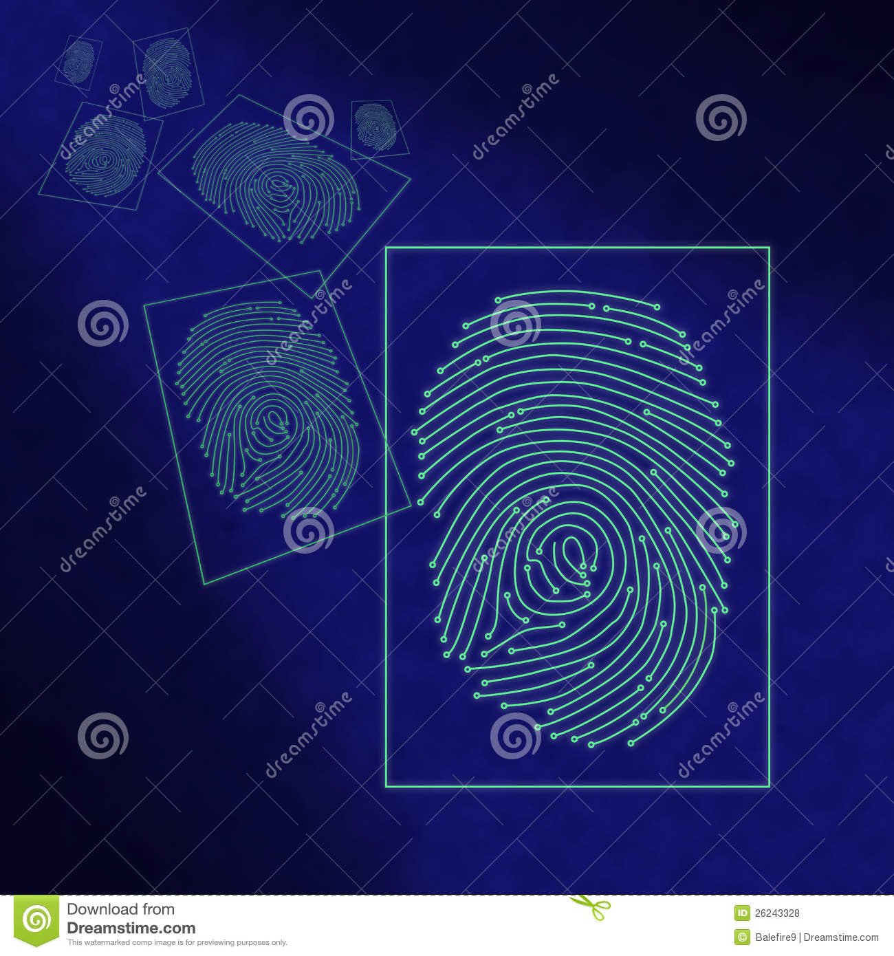 Series of electronic digital fingerprints