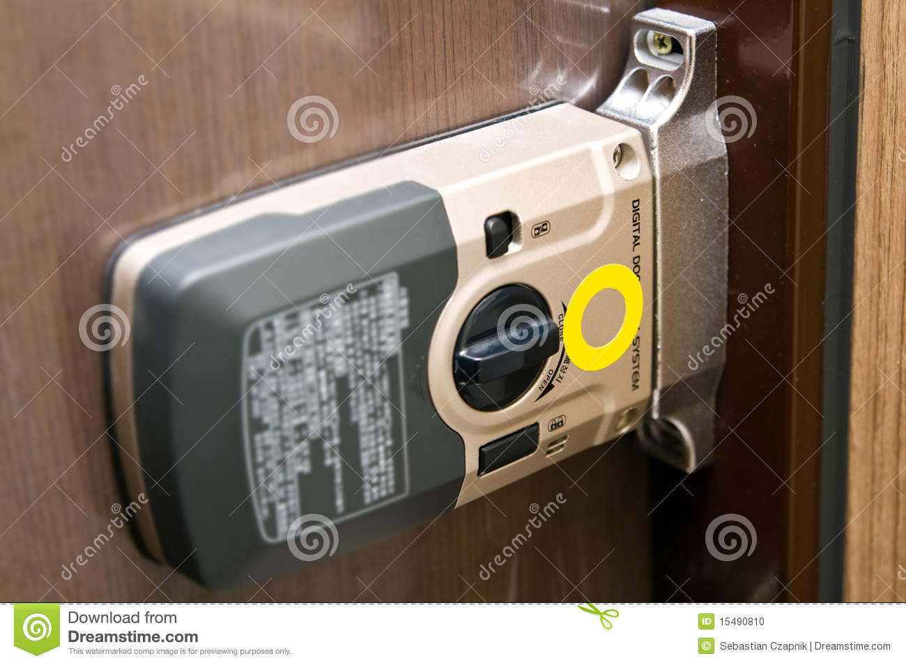 Electronic Door Lock Mechanism Stock Photo Image 15490810