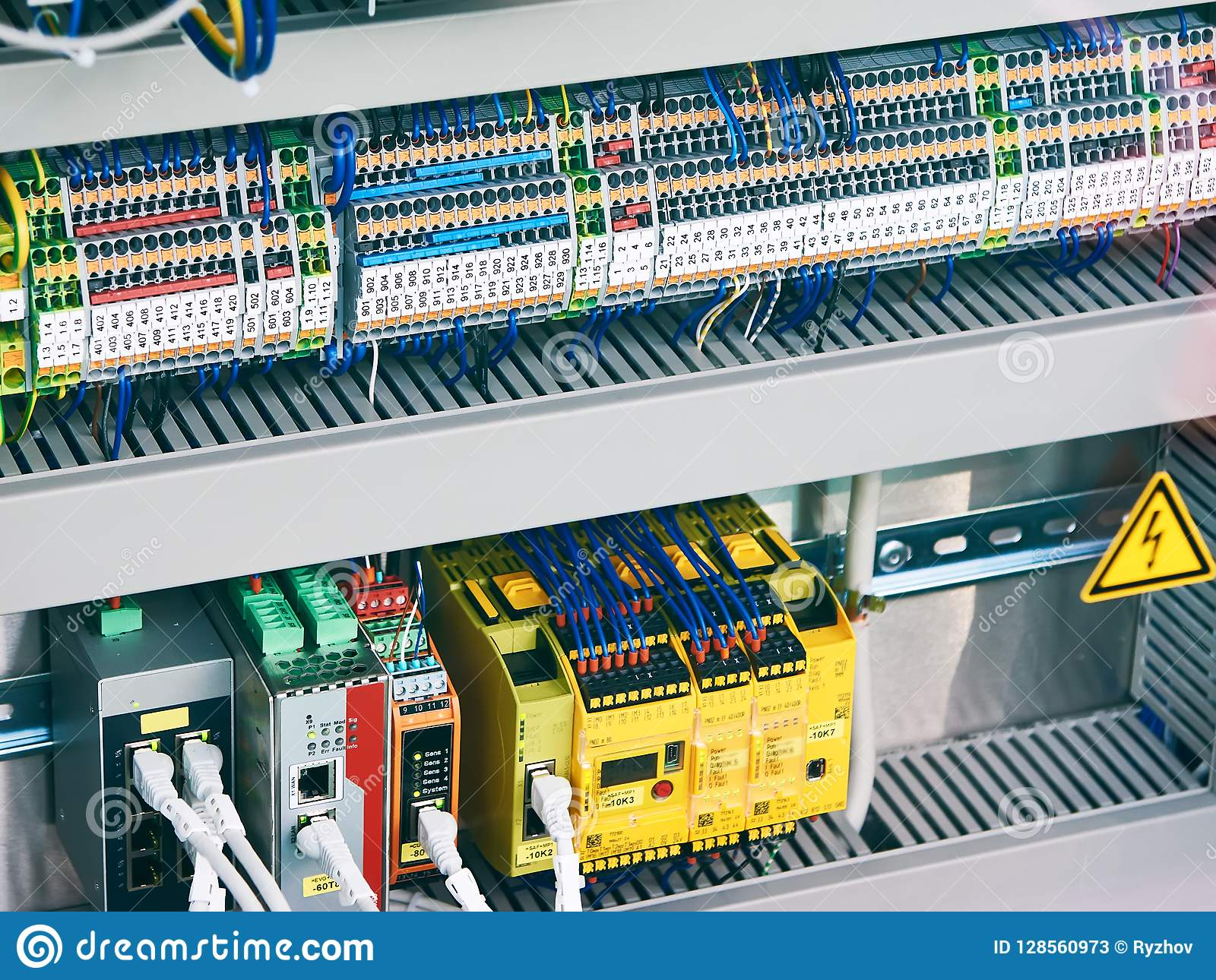 Electronic And Electrical Components Stock Image - Image of