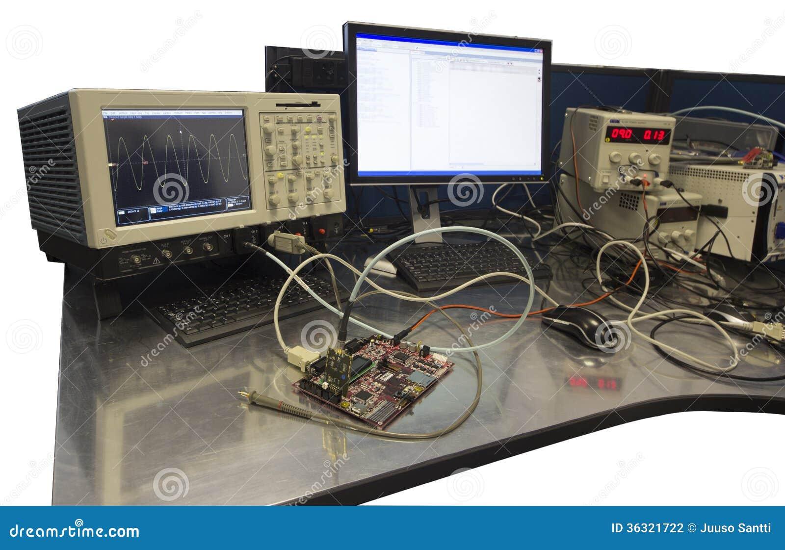 Electronic Engineer Workbench Stock Photo Image Of