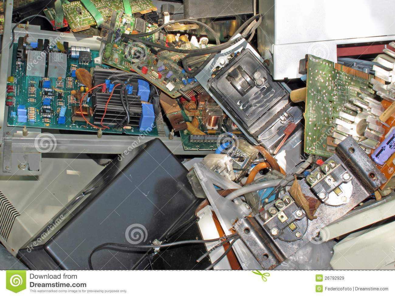 Electronic Equipment And Circuit Stock Image Of Energy Recycle Boards Concept Junk