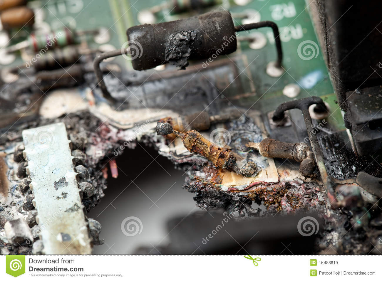 Electronic Equipment Damage Royalty Free Stock Images