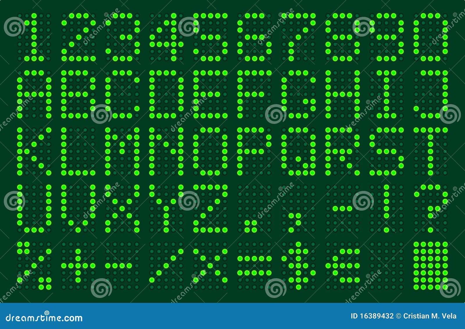 Electronic Font Stock Photography Image 16389432