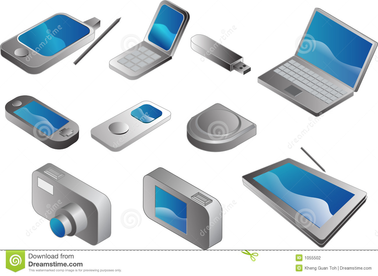electronic gadgets stock photography image 1055502