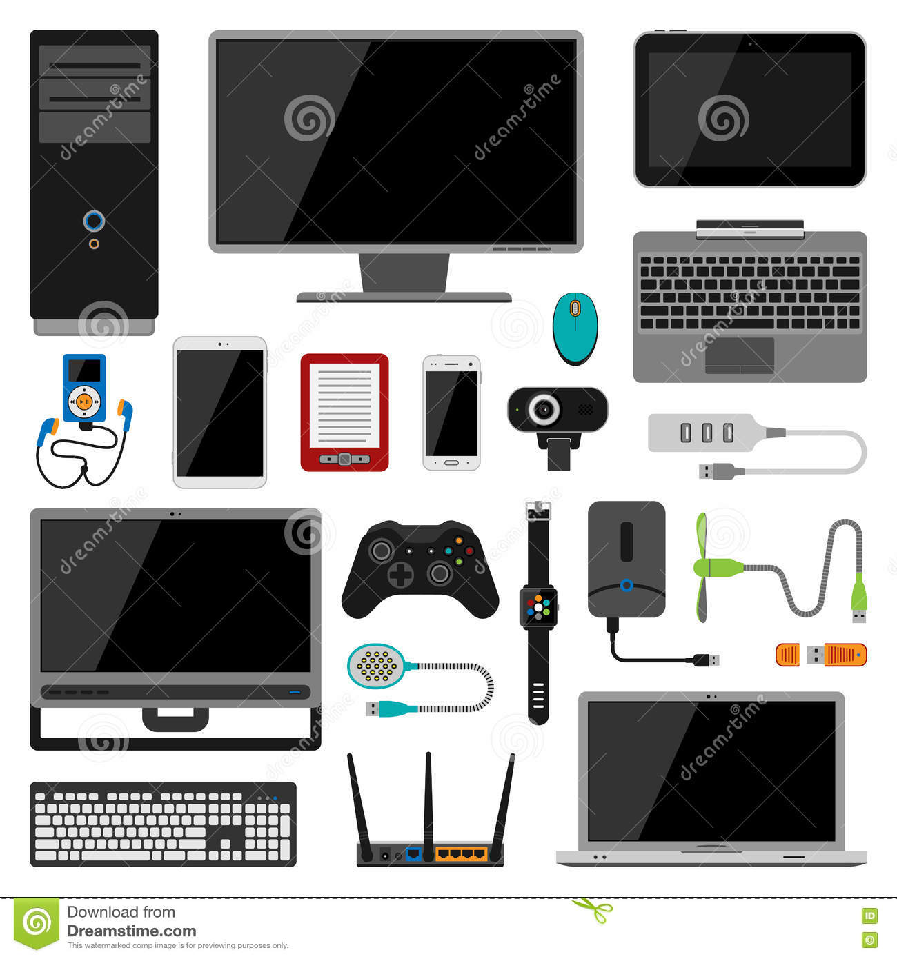Electronic Gadgets Vector Icons Stock Vector Illustration Of Icon