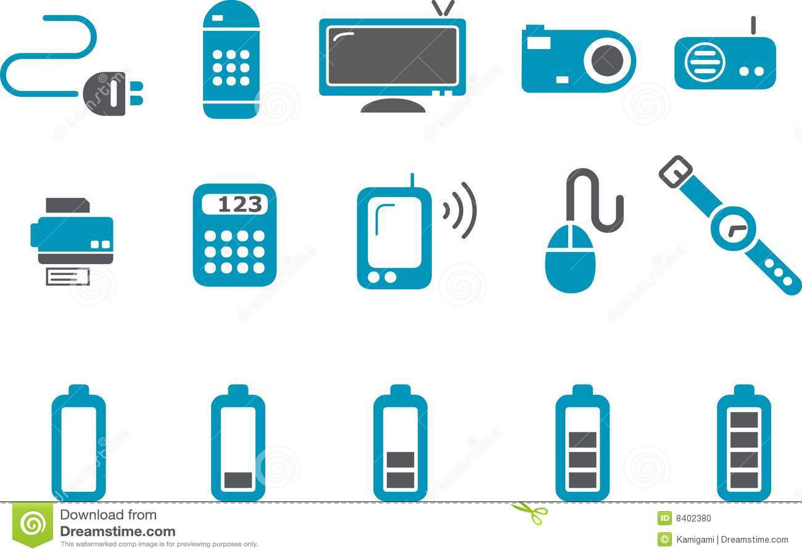 Icon Electronics Srinagar: Electronic Icon Set Stock Photo