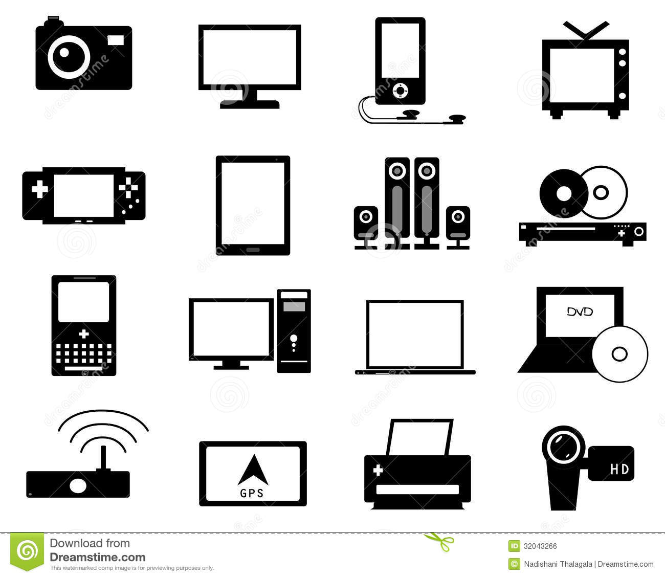 Electronic Icon Stock Vector Illustration Of Interface 32043266