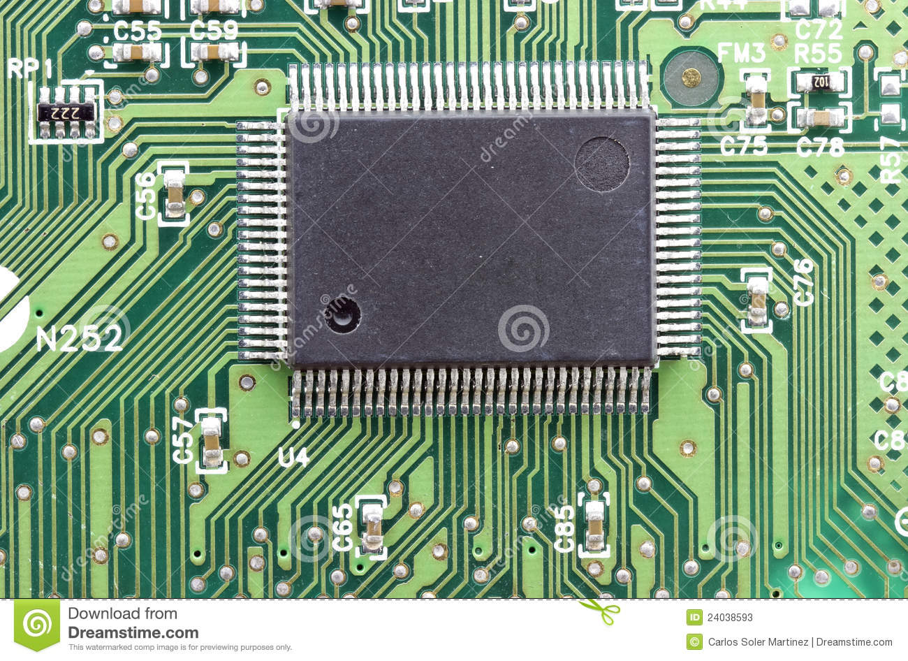 Electronic Integrated Circuit Chip As An Abstract Stock ...