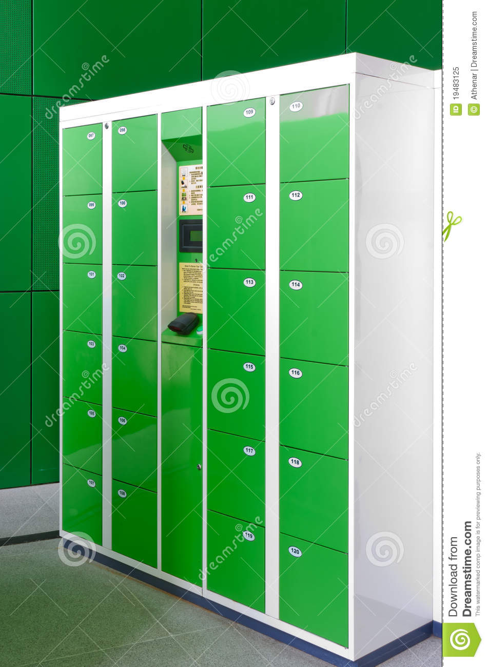 Electronic Lockers Stock Image Image Of Equipment