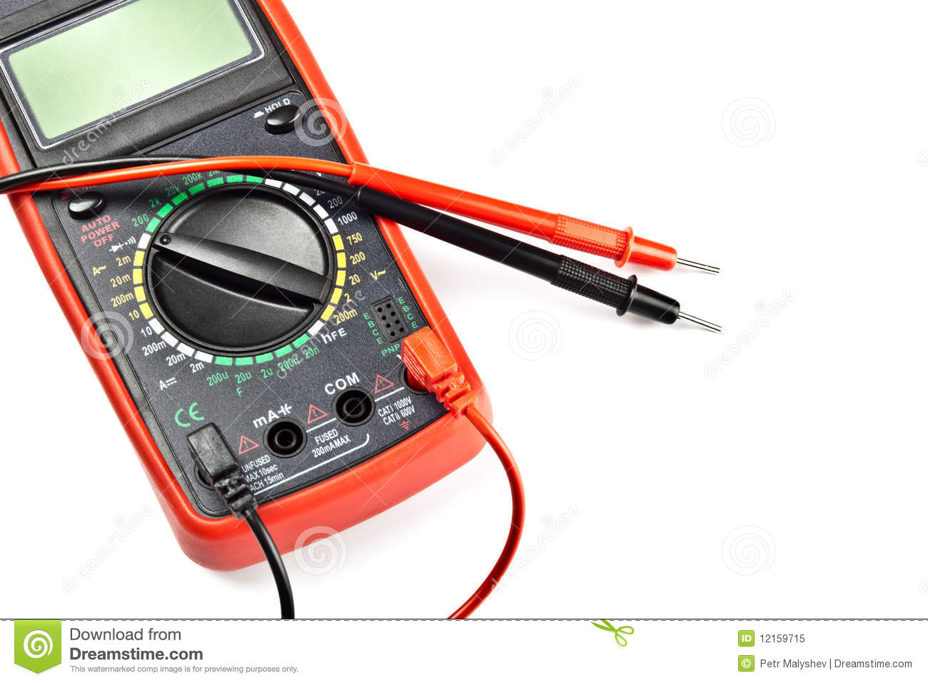 Electronic Measuring Devices : Electronic measuring device royalty free stock photo