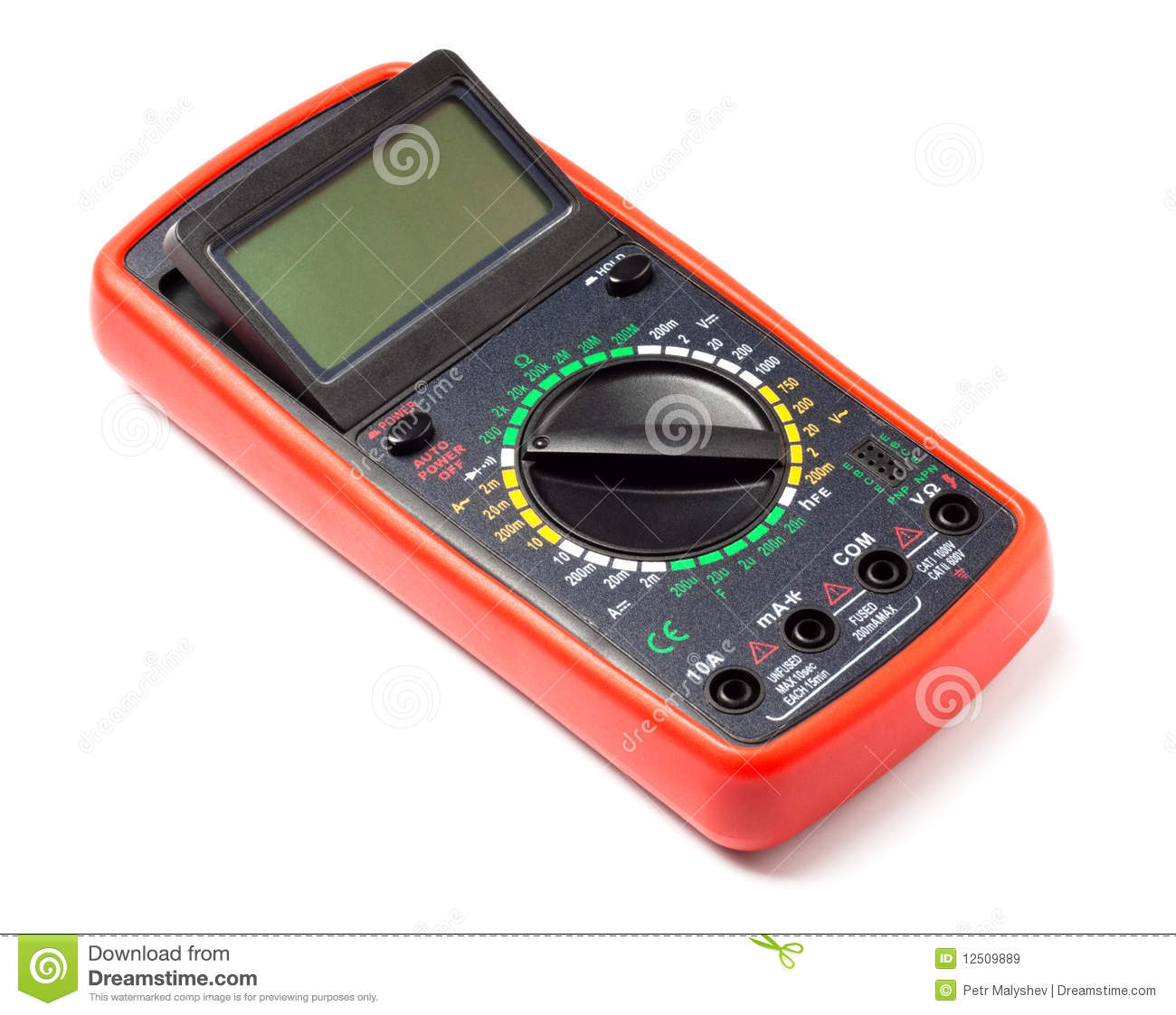 Electronic Measuring Devices : Electronic measuring device royalty free stock images
