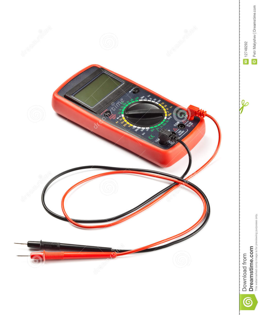 Electronic Measuring Devices Measure : Electronic measuring device stock photo image of