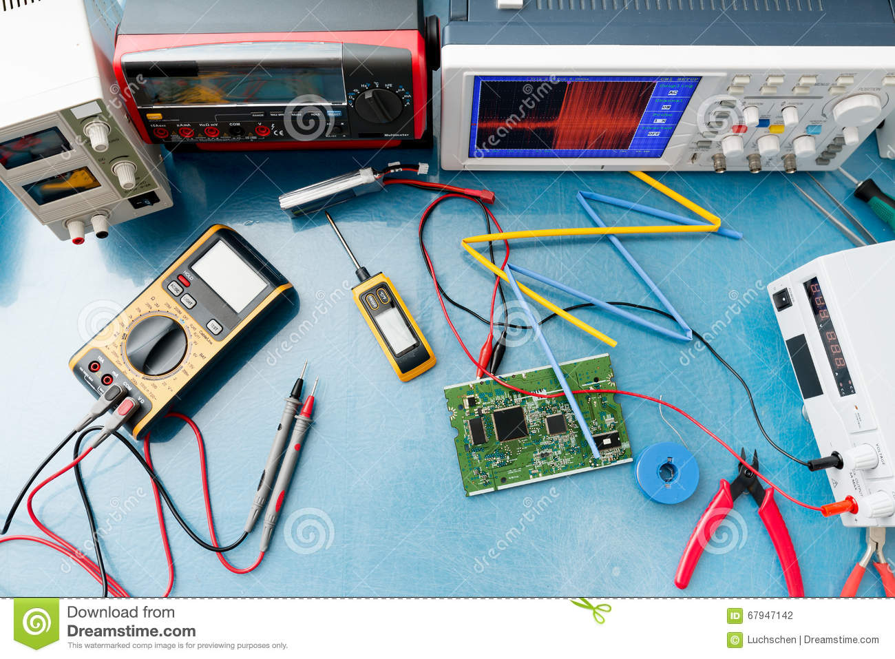 Electronic Measuring Instruments : Electronic measuring stock photo image of calibration