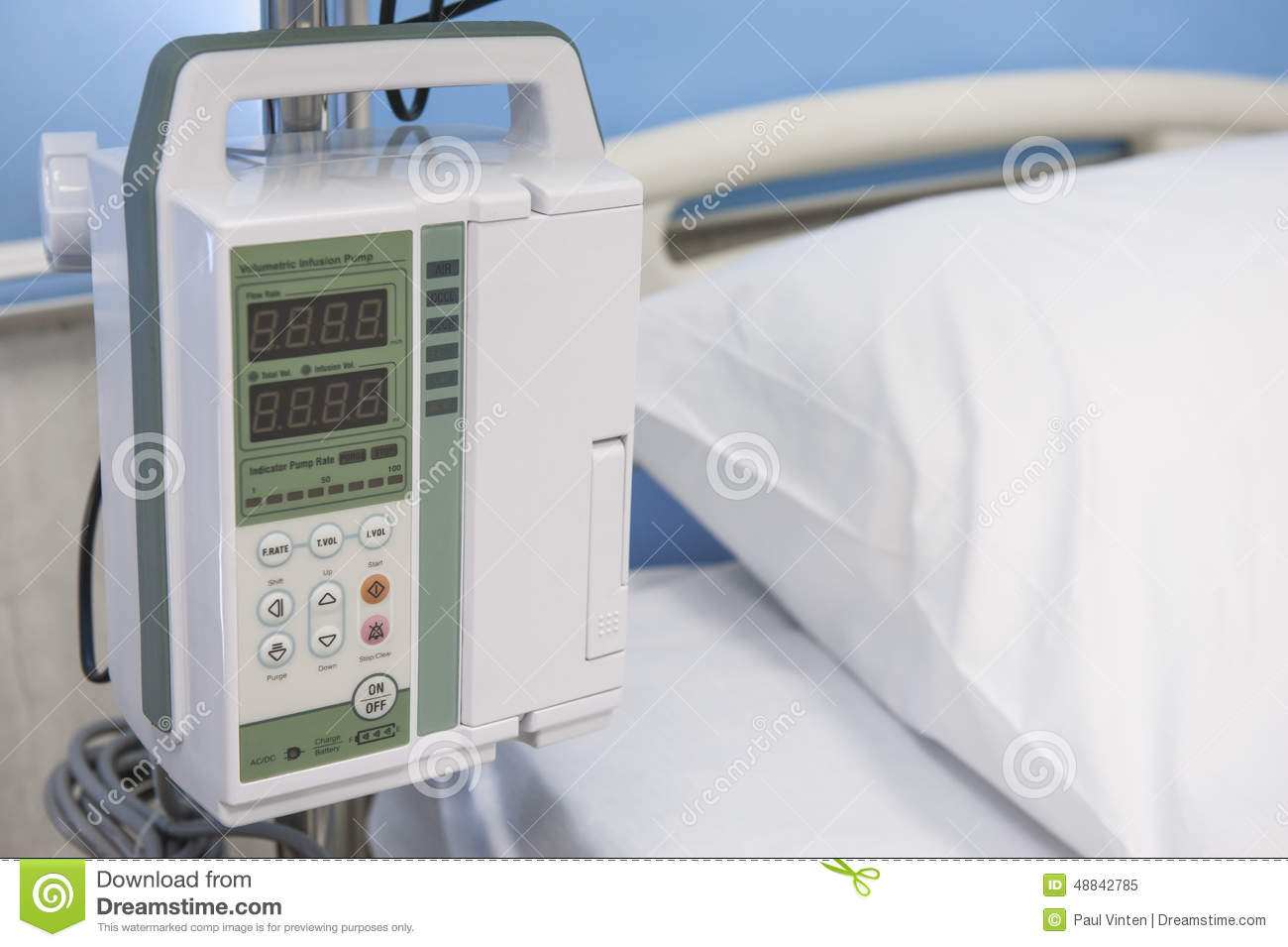 Electronic medical infusion machine controls