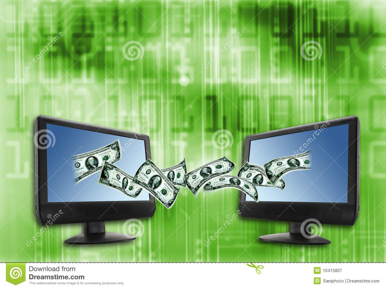 electronic money stock illustration  illustration of