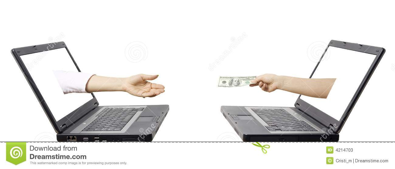 Electronic Money Transfer Concept Stock Photos - Image: 4214703