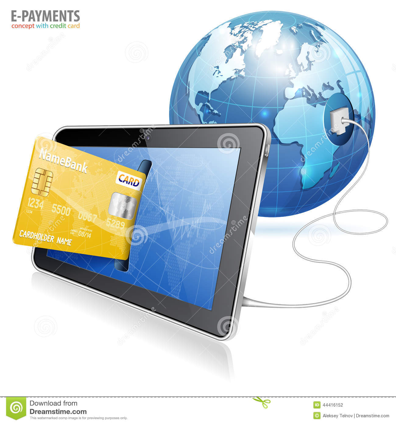 Electronic Payment Concept Stock Vector Image 44416152