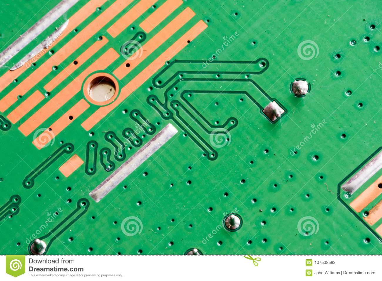 Electronic Pcb Printed Circuit Board Stock Image Of With Transistors In Macro Close Up Circuitry And Electric Hardware Elements Including Computer Chip Copy Space For