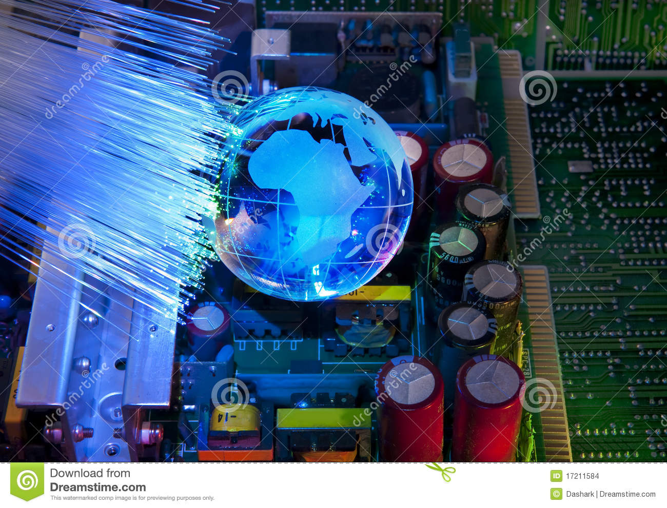 Electronic Printed Circuit Board Stock Photo Image Of Complex Stockfoto Pcb Used In Industrial Download Assembly 17211584
