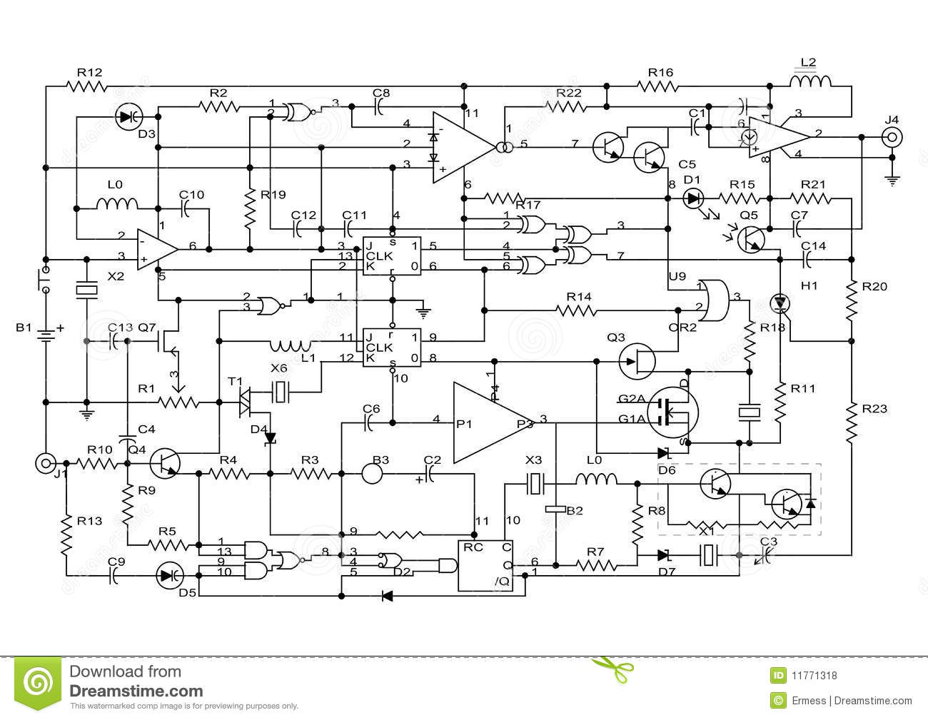 Electronic Project Stock Illustration Of Design 11771318 Circuit Projects Diagram Schematic