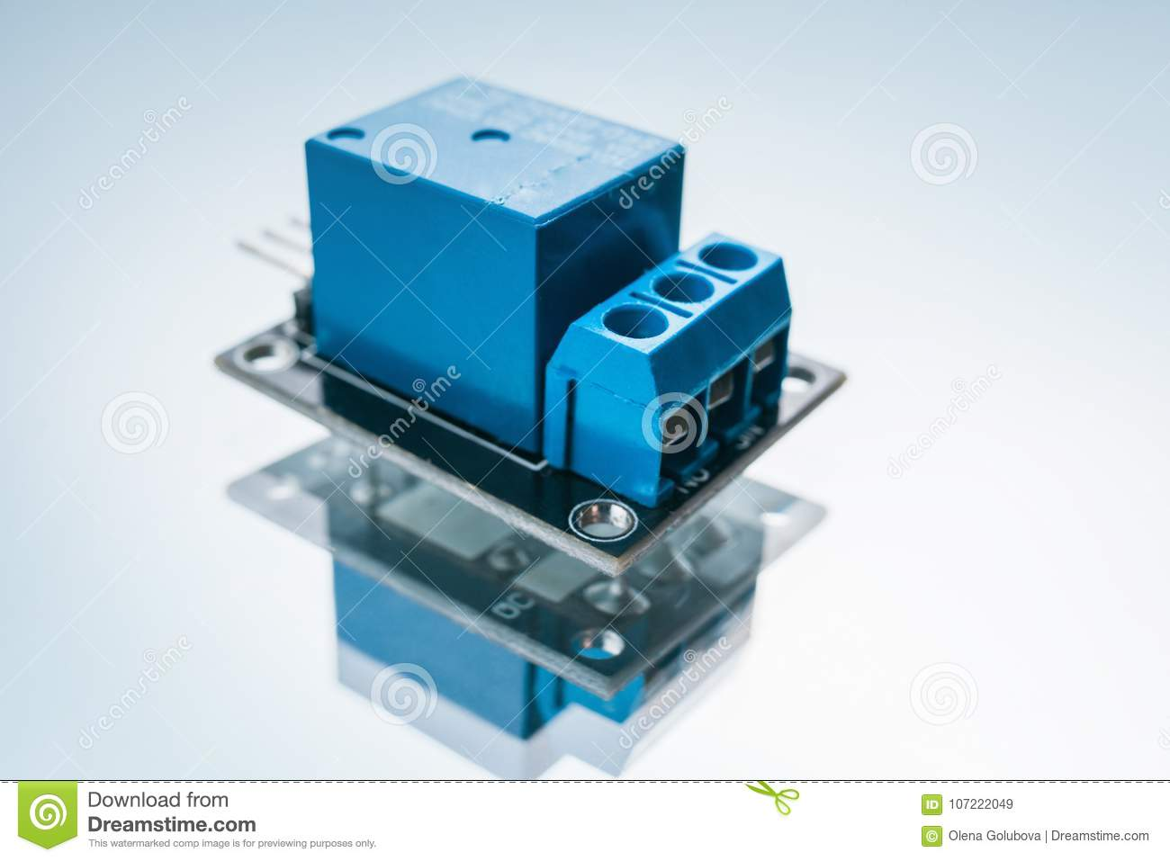 Electronic Relay Device Electrical Circuit Stock Image