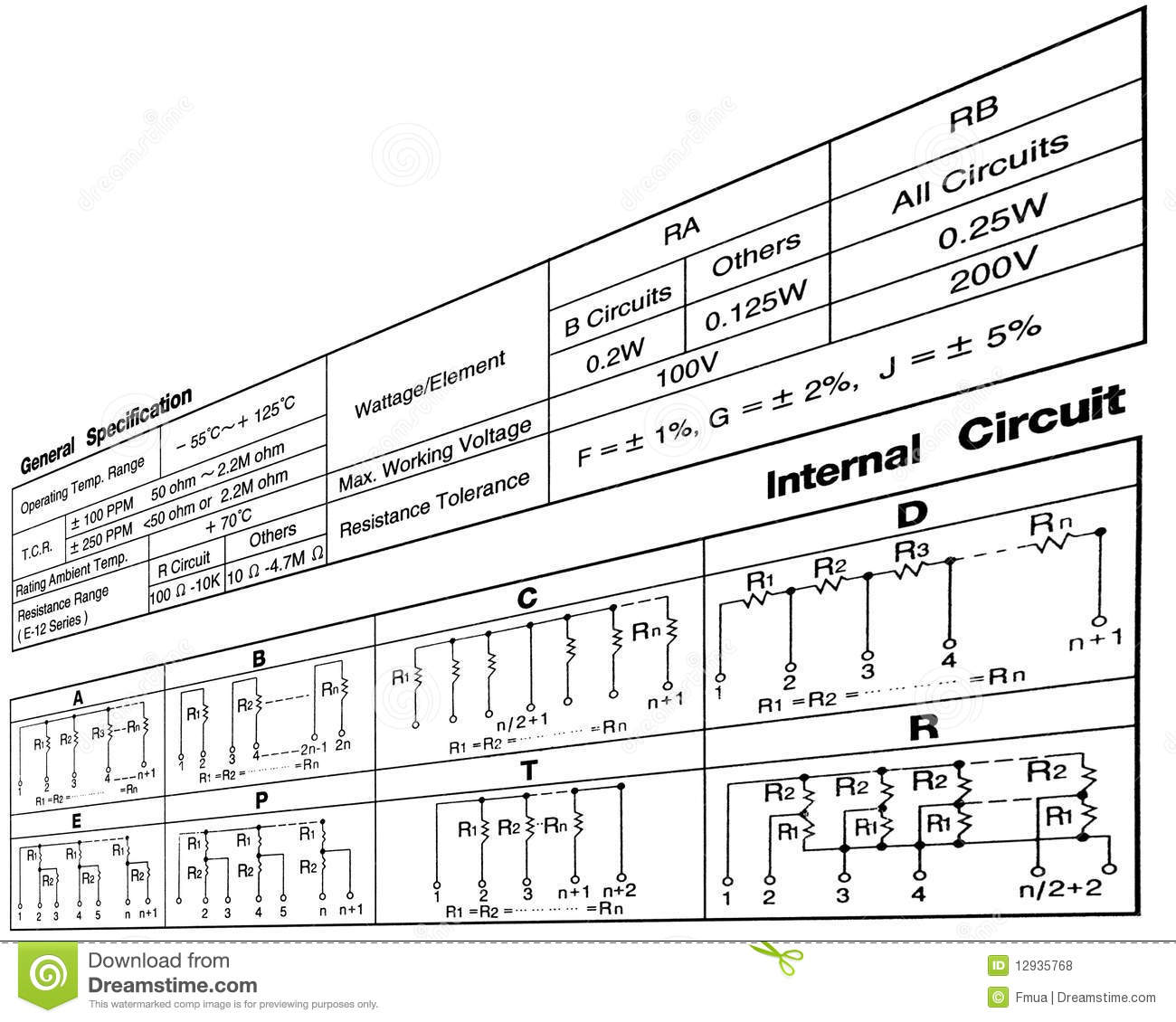 electronic resistance circuit diagram  connections royalty free stock photos