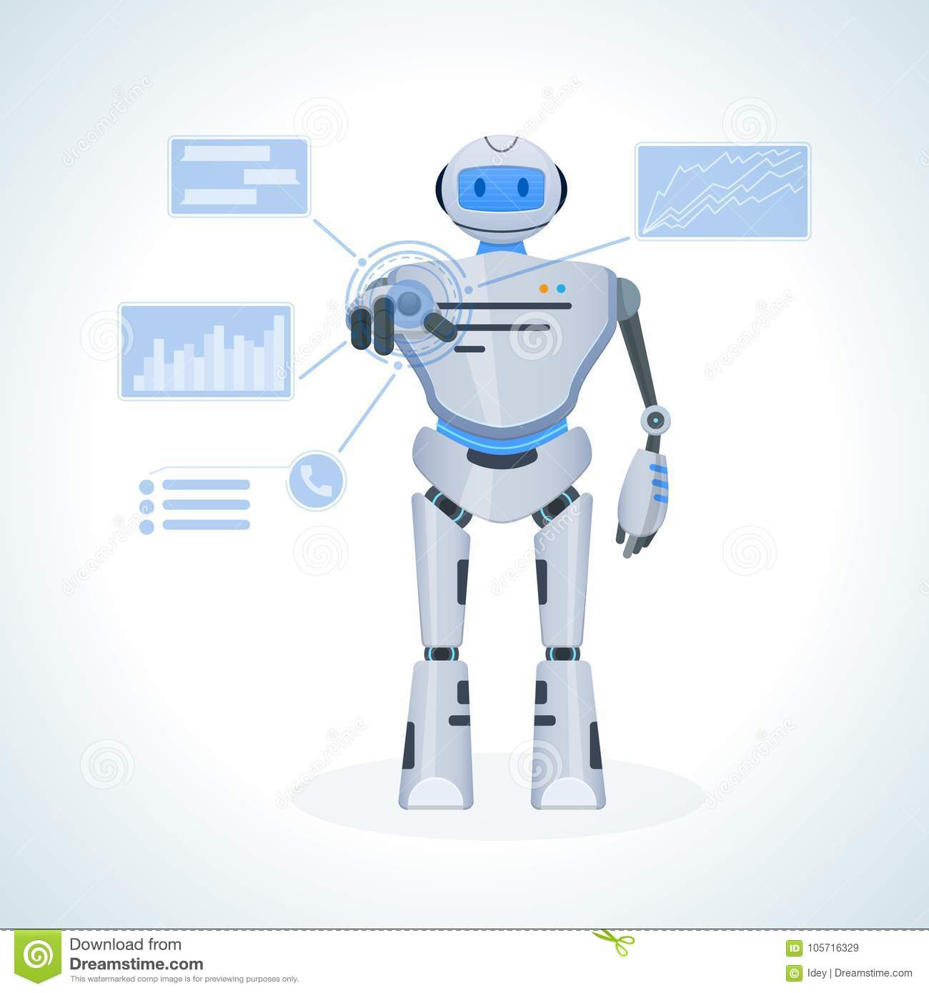 Electronic Robot, Chat Bot, Humanoid  Search For Information