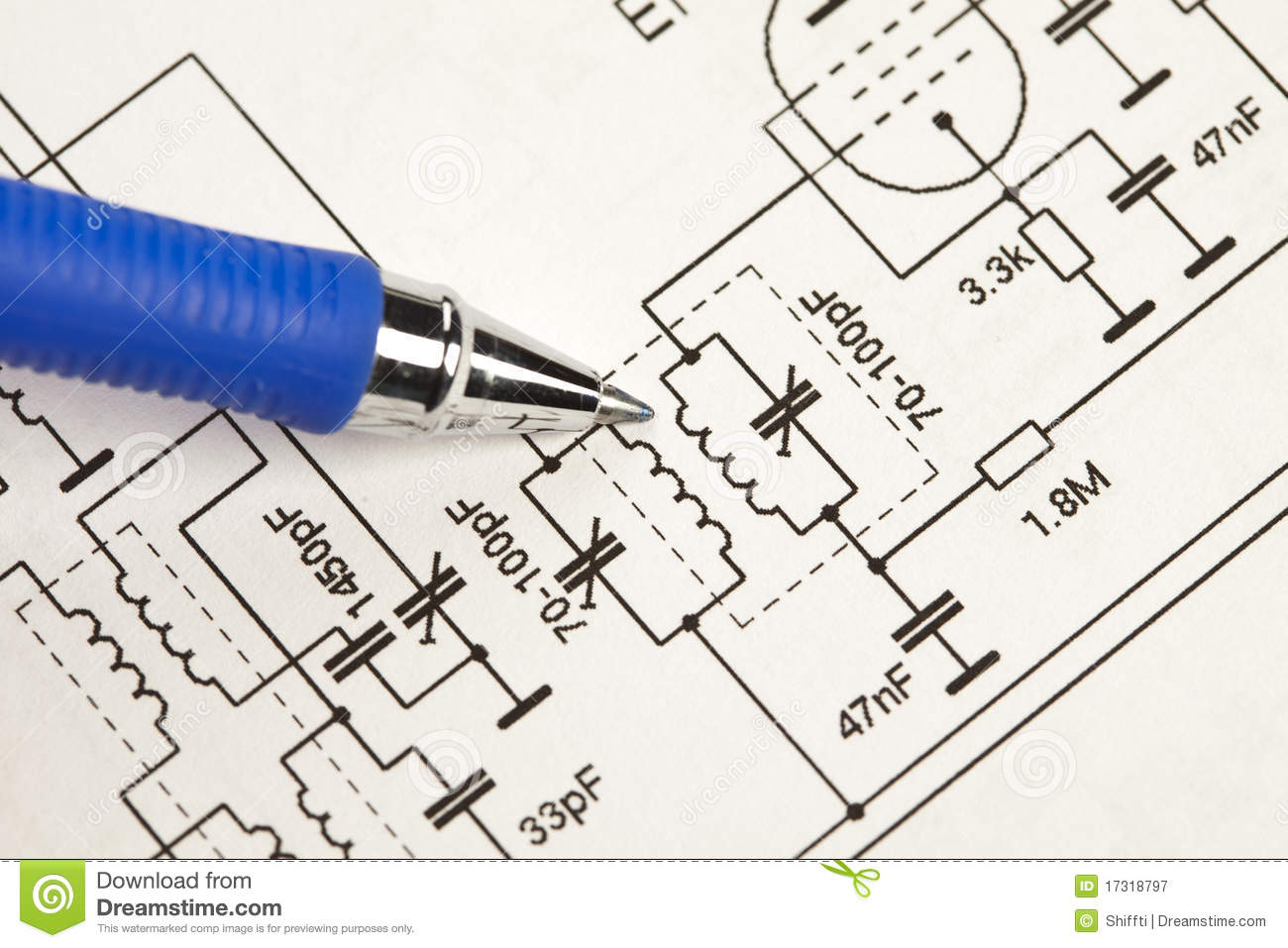 Electronic Schematic Diagram Stock Image - Image of circuit ...