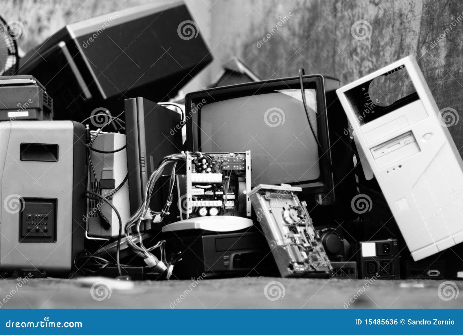 Electronic scrap waste raee rhos old things