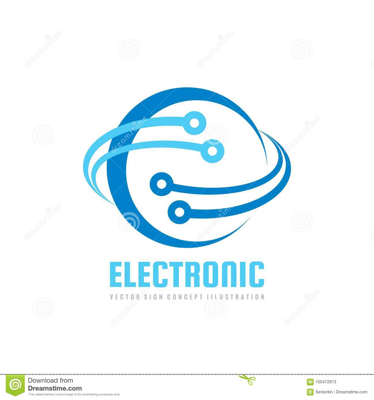Electronic technology - vector logo template for corporate identity. Abstract global network, internet tech concept illustration.