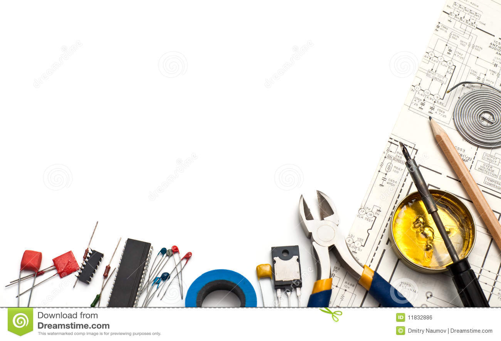 Electronics Background Stock Photo Image Of Print