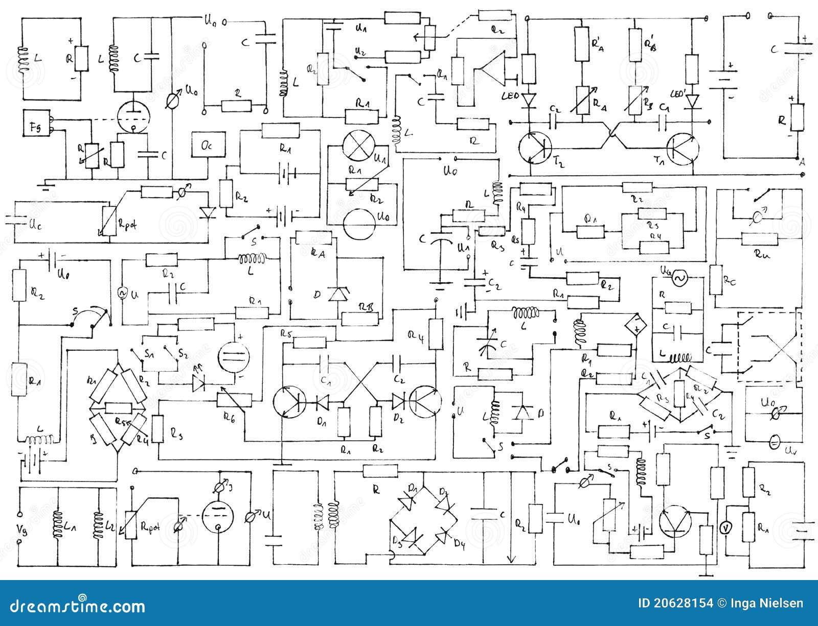 electronics background stock images
