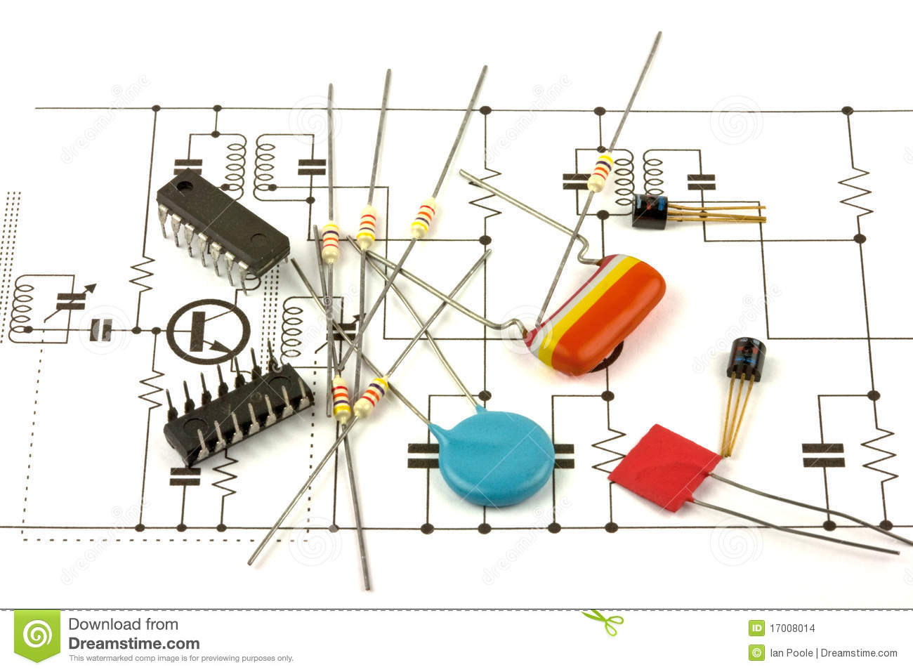 Electronics Components Stock Images - Image: 17008014
