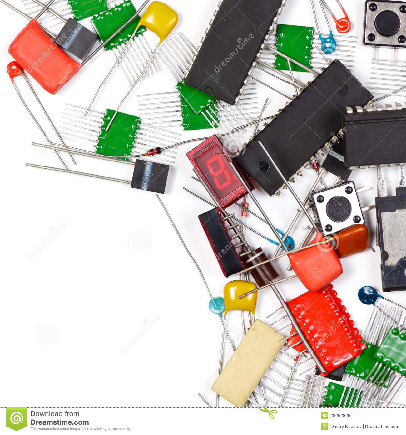 Electronics Components Background Stock Photo - Image of electrical, technology: 28252826