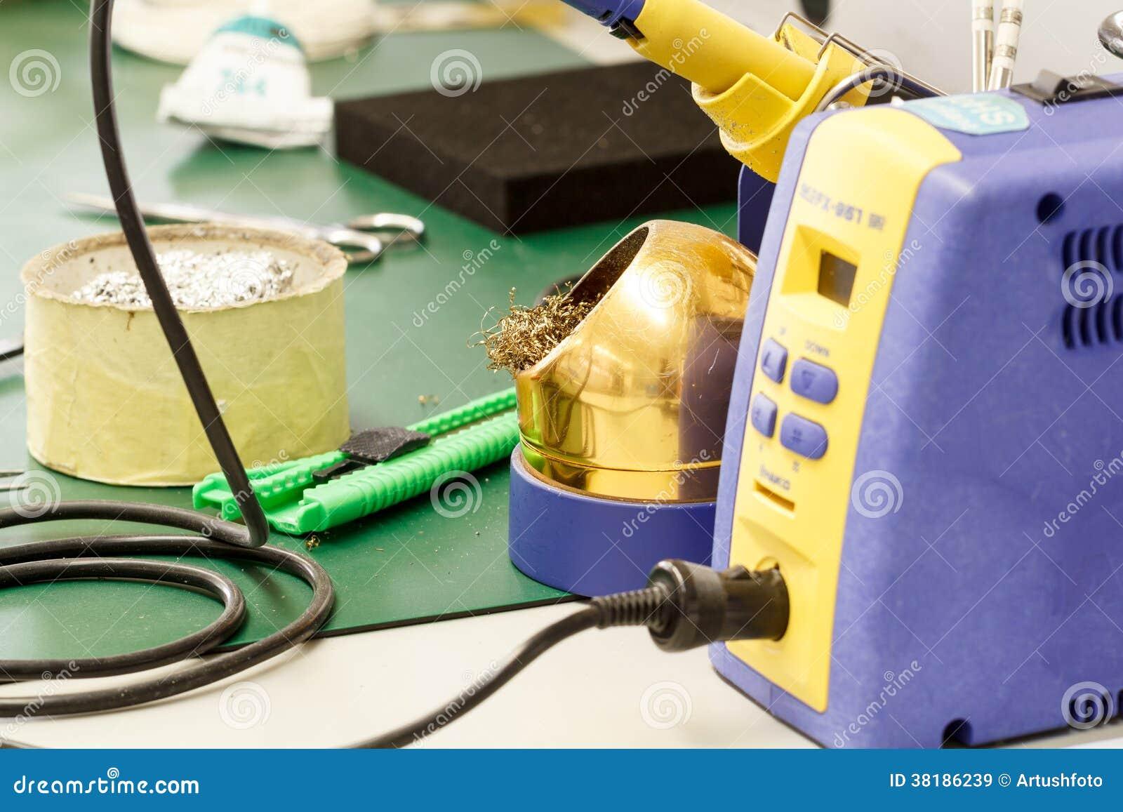 Dign Electronics Factory Equipment Stock Photo Cartoondealer