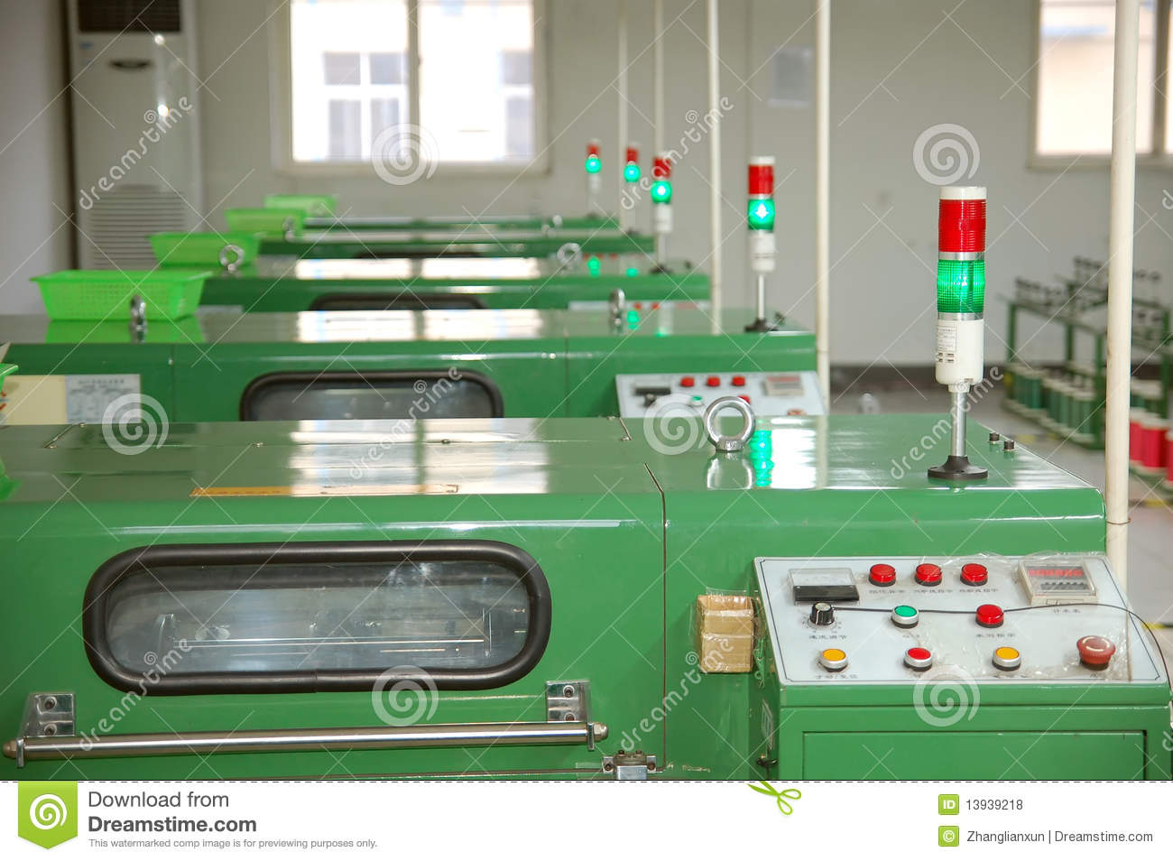 Dign Electronics Factory Equipment Stock Photo Cartoondealer