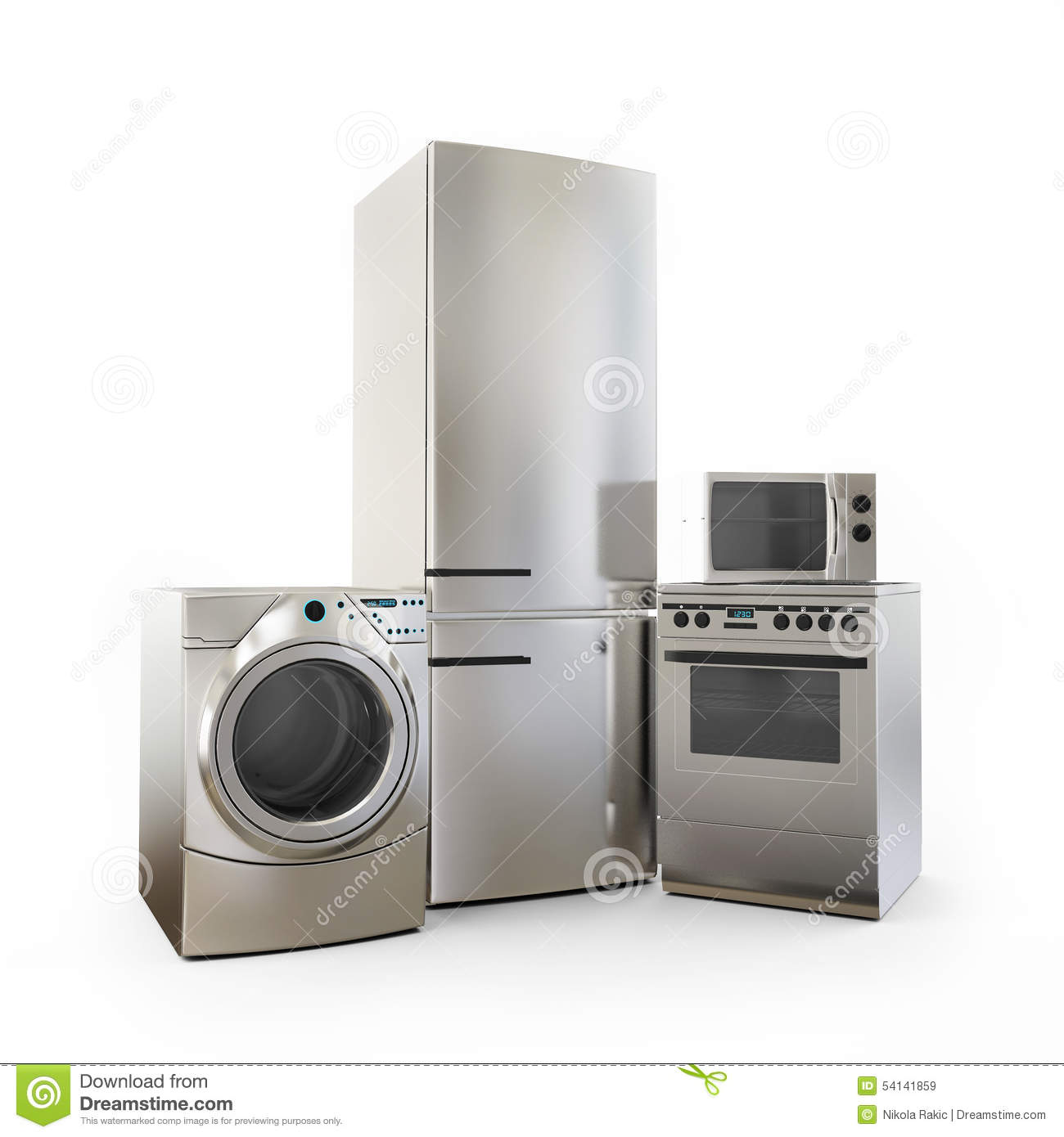 Electronics Fridge Microwave Washer And Electric-cooker Home ...