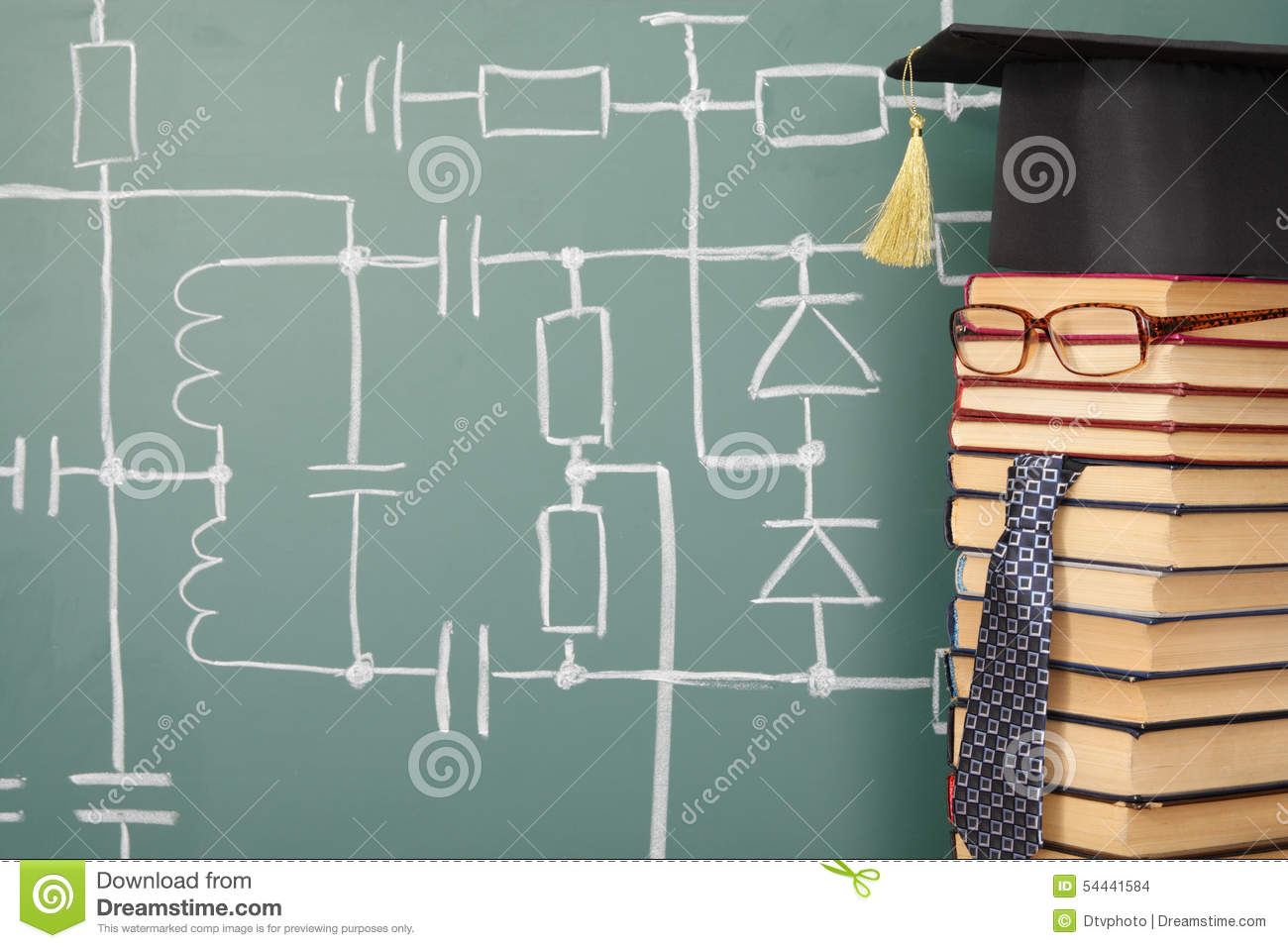 Electronics Lecturer Stock Photo Image Of Inductance 54441584 Schematic Diagram Funny