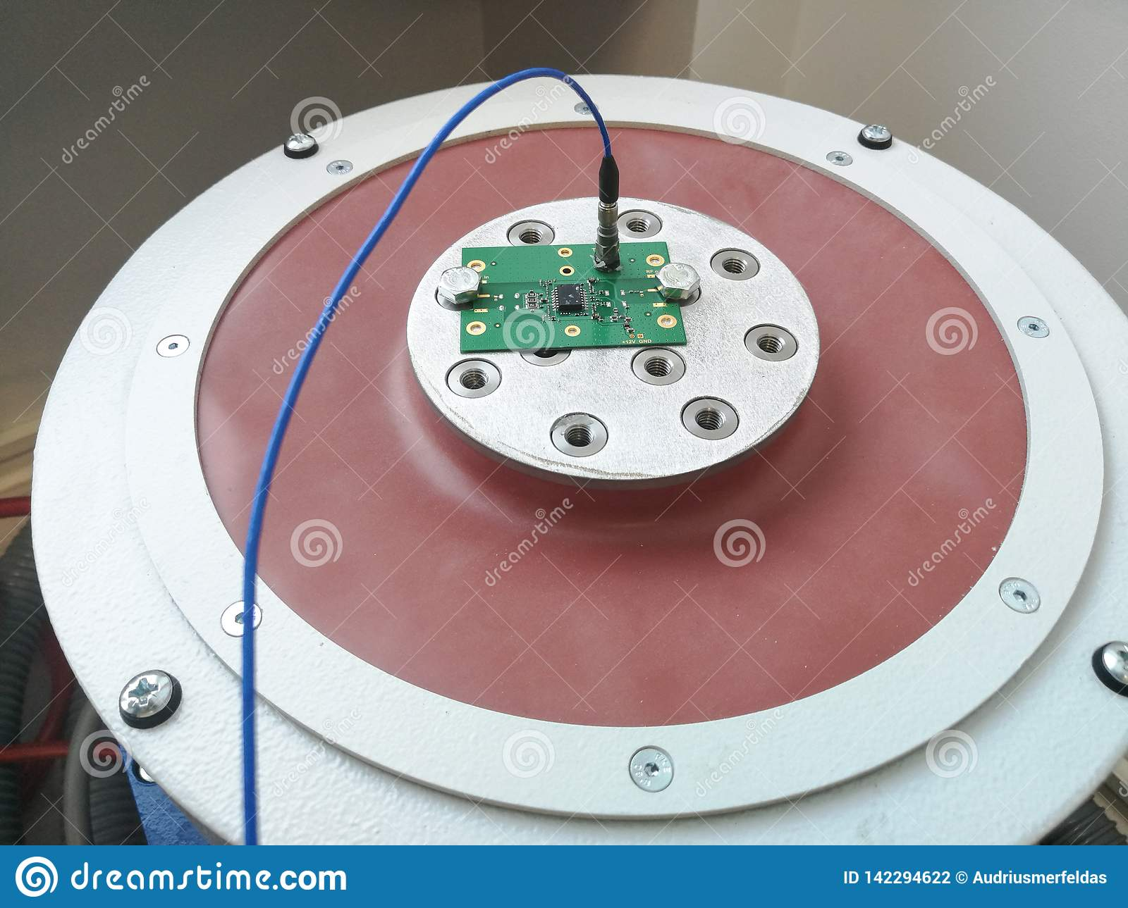 Electronics PCB Prepared For Reliability Testing Stock Photo