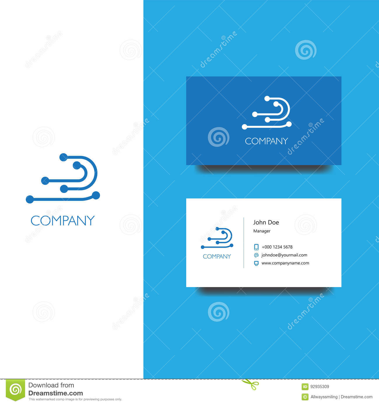 Electronics services or goods company logo and business card vector eps logo for electornic services or store company business card template icon design colourmoves